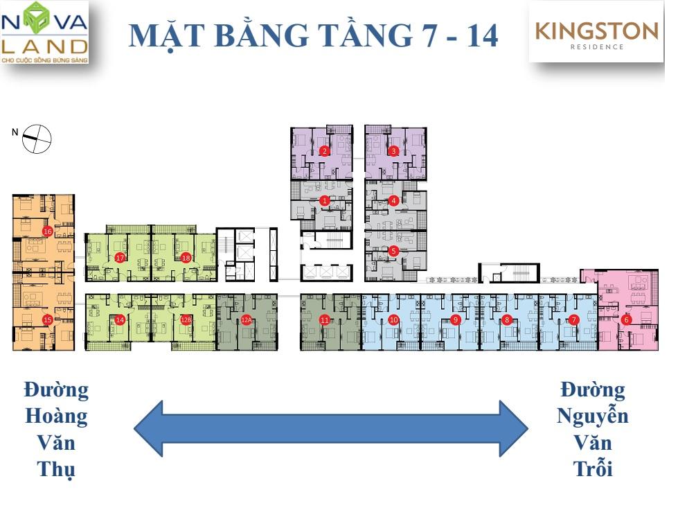 mặt bằng căn hộ kingston