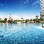 Đảo Kim Cương đều dành cho việc xây dựng các tiện ích nội khu và không gian xanh