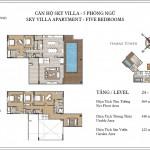Căn hộ Đảo Kim Cương Sky Villa 5 phòng ngủ